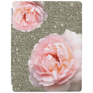 Luxury Gold Glitter Floral iPad 2/3/4 Smart Cover iPad Cover