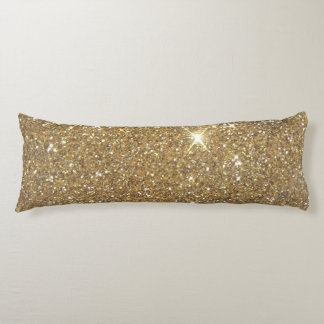 Luxury Gold Glitter - Printed Image Body Pillow