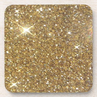 Luxury Gold Glitter - Printed Image Drink Coaster