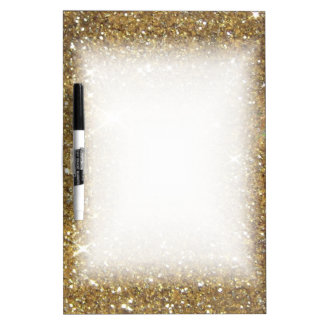Luxury Gold Glitter - Printed Image Dry Erase Board