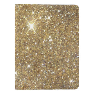 Luxury Gold Glitter - Printed Image Extra Large Moleskine Notebook