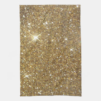 Luxury Gold Glitter - Printed Image Kitchen Towel