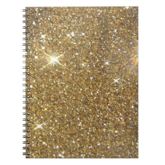 Luxury Gold Glitter - Printed Image Notebook