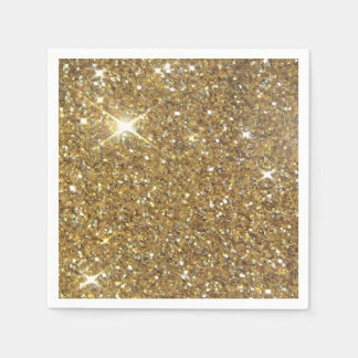 Luxury Gold Glitter - Printed Image Paper Napkin
