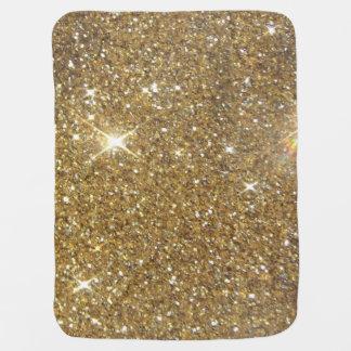 Luxury Gold Glitter - Printed Image Receiving Blanket