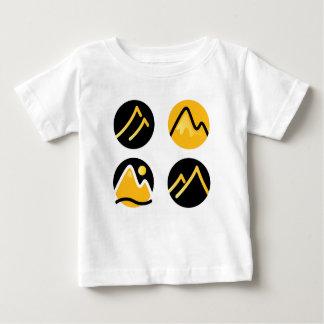 Luxury gold hills on black baby T-Shirt