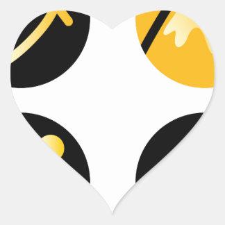 Luxury gold hills on black heart sticker