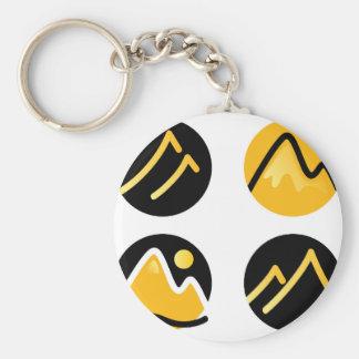 Luxury gold hills on black keychain