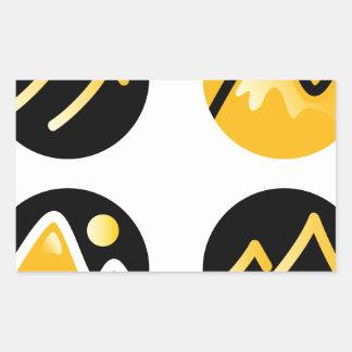 Luxury gold hills on black sticker