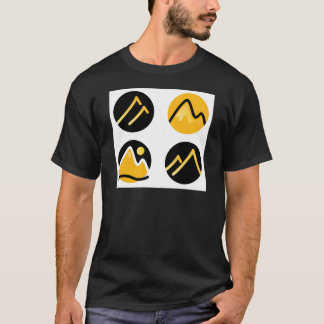Luxury gold hills on black T-Shirt