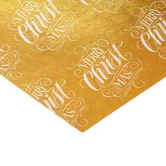 Luxury Gold Merry Christmas Religious Script Tissue Paper