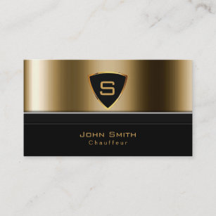 Limo business cards profile cards zazzle ca luxury gold monogram chauffeur business card colourmoves