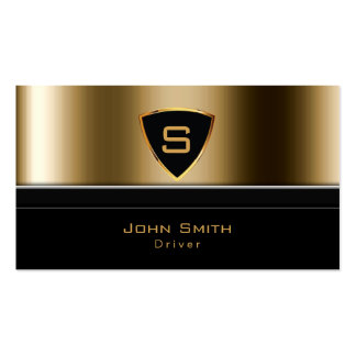 Luxury Gold Monogram Driver Business Card