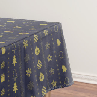 Luxury Golden Christmas pattern - Xmas gifts Tablecloth