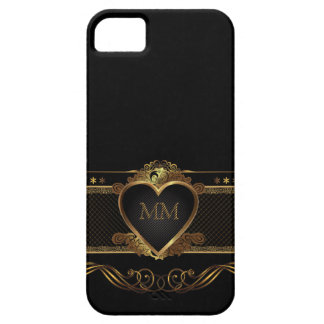 Luxury Golden Heart Initials  iPhone 5 Case