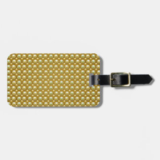 Luxury golden pearls luggage tag