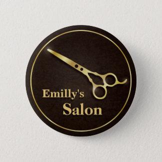 Luxury Golden Scissors Makeup Hair Salon Buttons