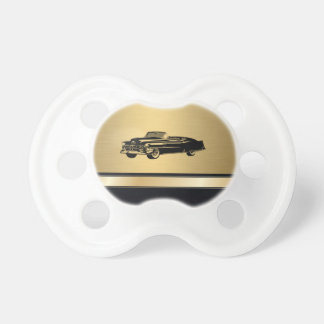 luxury golden  vintage classy old car personalized pacifier