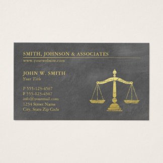 Luxury Grey Lawyer Scales of Justice Appointment Business Card