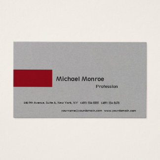 Luxury Grey Minimalist Modern Professional Business Card