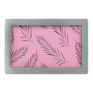 Luxury handdrawn palms / black with pink belt buckle
