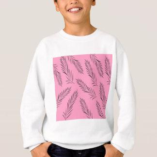 Luxury handdrawn palms / black with pink sweatshirt