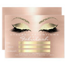 Luxury Lashes White  Gold Makeup Certificate Gift Card