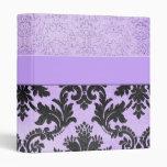 Luxury Lavender Elegant Damask Romantic Binder