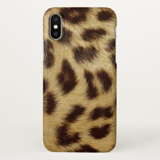 Luxury Leopard Skin Spotted Faux Fur iPhone X Case