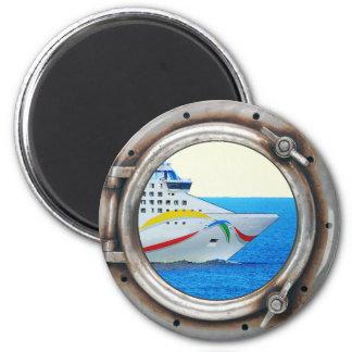 Luxury Liner Porthole View Magnet