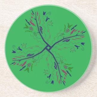 Luxury mandala art Green Coaster