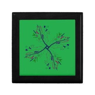 Luxury mandala art Green Gift Box