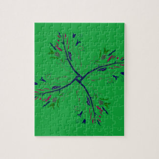 Luxury mandala art Green Jigsaw Puzzle
