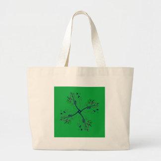 Luxury mandala art Green Large Tote Bag