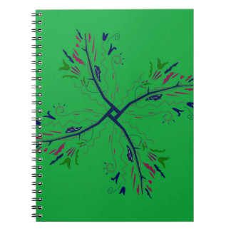 Luxury mandala art Green Notebook
