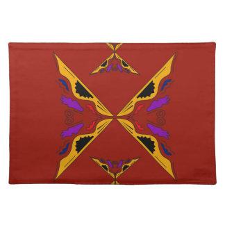 Luxury mandala gold brown placemat