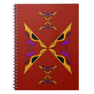 Luxury mandala gold brown spiral notebook