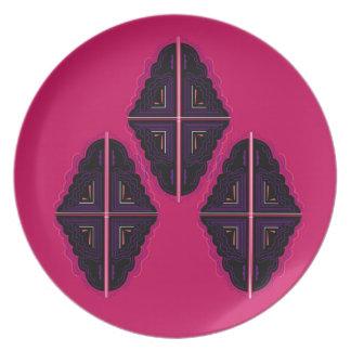 Luxury mandala Ornaments Plate