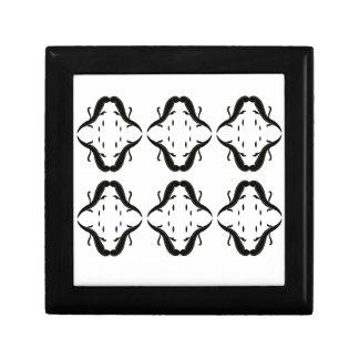 Luxury mandalas black on white gift box
