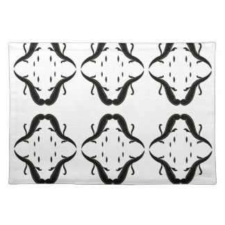Luxury mandalas black on white placemat