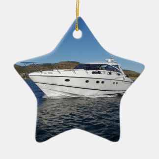 Luxury Motor Boat Ceramic Ornament
