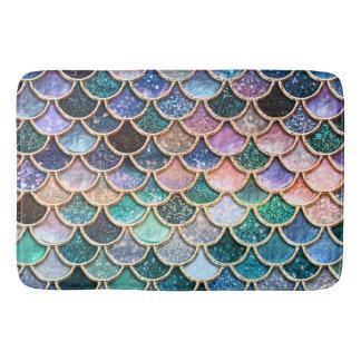 Luxury multicolor Glitter Mermaid Scales Bath Mat
