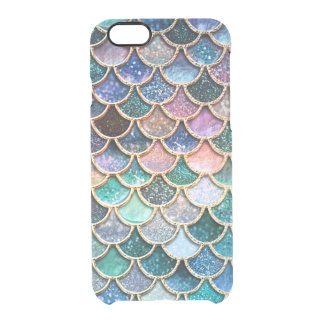 Luxury multicolor Glitter Mermaid Scales Clear iPhone 6/6S Case