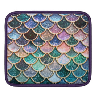 Luxury multicolor Glitter Mermaid Scales iPad Sleeve