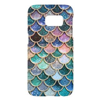 Luxury multicolor Glitter Mermaid Scales Samsung Galaxy S7 Case