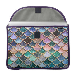 Luxury multicolor Glitter Mermaid Scales Sleeve For MacBooks