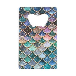 Luxury multicolor Glitter Mermaid Scales Wallet Bottle Opener
