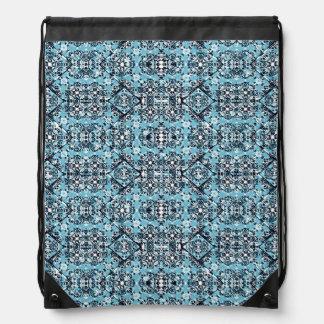 Luxury Oriental Ornate Pattern Drawstring Bag