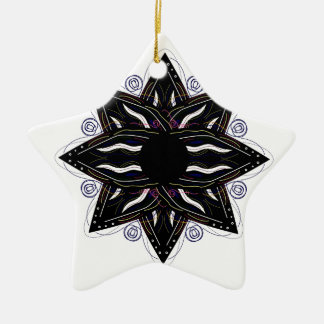 Luxury ornament  black on white