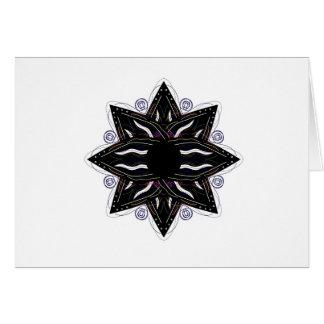 Luxury ornament  black on white card